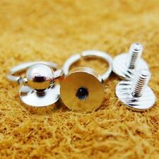"""3/8"""" 10mm O-ring plated Brass Head Button Stud Screwback with Screw"""