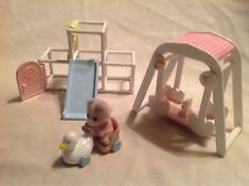 Calico Critters/Sylvanian Families Jungle Gym and Swing Set with Critter