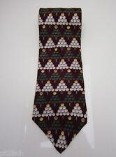 Signature Payne Stewart Golf Ball Tees Ball Marker Classic Necktie 100% Silk