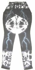 WWE HULK HOGAN RING WORN SIGNED BLACK TYE DYE TIGHTS WITH PROOF