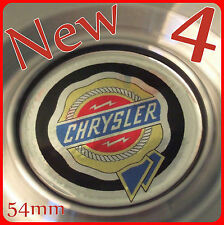 CROSSFIRE SEBRING VOYAGER COLOUR CHROME ALLOY WHEEL CAP STICKER BADGES 54mm 55mm