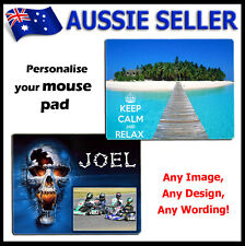 Personalised PHOTO Mouse Pad PICTURE LOGO customised Gift Idea !!!