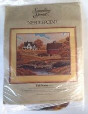 NEW Something Special Needlepoint Kit Fall Scene 30529 Wool Yarn Canvas Mesh