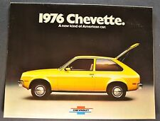 1976 Chevrolet Chevette Brochure Rally Sport Scooter Woody Excellent Original 76