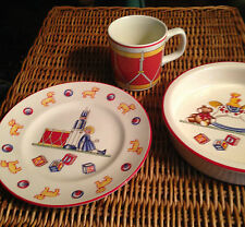 "TIFFANY CHILDREN'S DISH SET ""TOYS""  - 3 PIECE SET"