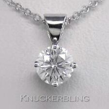 0.30ct F SI Exc Round Brilliant Cut Diamond & 18ct White Gold Pendant with Chain