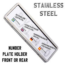 Car Number Reg Licence Plate Holder Surround Stainless Steel Non Rusting