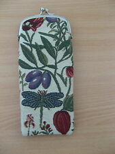 NEW TAPESTRY READING GLASSES/SUNGLASSES SOFT POUCH/HOLDER GARDEN THEME