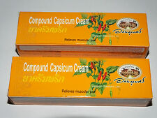 Compound Capsicum Cream Capsaicin Arthritis Aches Joint Pain 2 x 25g Tubes