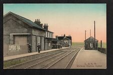 Valley Railway Station - colour printed postcard