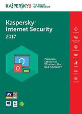 Kaspersky Internet Security 2017 5 PC / Benutzer / Geräte / 1 Jahr Vollversion