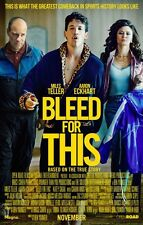 BLEED FOR THIS Original Movie Promo Poster - 11x17 - Miles Teller - Ciaran Hinds