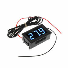 DC5-12V Digital Thermometer Refrigerator Temperature Detector with Probe Blue HR