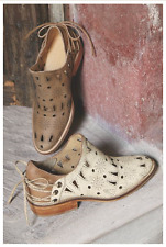 NEW ANTHROPOLOGIE MUSSE & CLOUD Cutout Coolway Anise Desert Booties Brown  8
