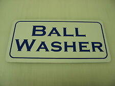 GOLF BALL WASHER Metal Sign 4 COUNTRY CLUB Tee Box Green Cart Path