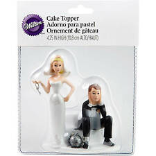 Wilton WEDDING CAKE TOPPER Humorous/Funny Ball & Chain Crafted In Resin