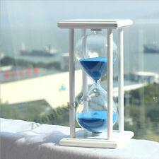 30 Minute Wooden Glass Hourglass Sand Timer Cooking Clock Home Office Decor Gift