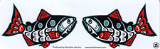 Kissing Salmon - Magnetic Small Bumper Sticker / Decal Magnet