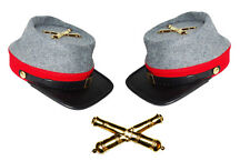 American Civil War Confederate Artillery Style Kepi With Badge XLarge 60/61cms