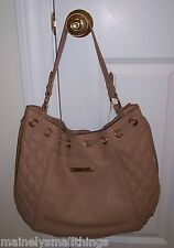 NWT Juicy Couture Pacific Avenue Quilted Leather Crescent Hobo YHRUO432