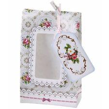 12 X Bonito Estilo Vintage Galletas/Caramelo favor bolsas con cierre de bolsas de regalo Peg