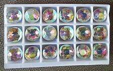 18 x LARGE 20mm IRIDESCENT CLEAR SWAROVSKI CRYSTALS RIVOLI ROUND CRYSTAL
