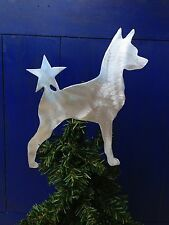 Miniature Pinscher with Star, Dog Tree Topper, Wreath Decor, Holiday