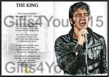 Elvis keepsake poem  A4 130gms Matt silk paper