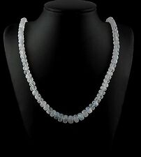 Genuine 1 Strand Natural Fire Rainbow Moonstone Rondelle Stack Beads Necklace