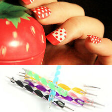 New 5pcs Stylo Dotting Pen Ongle Marbleizing Strass Tips Manucure Nail Art Tool