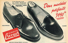 PUBLICITE ADVERTISING 124  1954  CLERGET   chaussures  homme