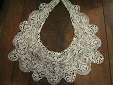 ANTIQUE LARGE MALTESE LACE COLLAR - BRIDAL WEDDING