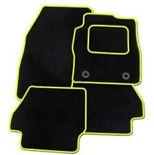 FORD MUSTANG 2015+ TAILORED CAR FLOOR MATS BLACK CARPET WITH YELLOW TRIM