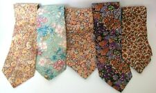 Vintage 1970's Liberty of London Cotton Floral Flower BoHo Hippy Neckties Ties