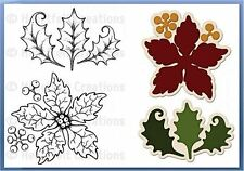 Heartfelt Creations Stamp & Die Combo LARGE SPARKLING POINSETTIA ~ -3679, -765