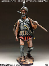 Greek Hoplite, Tin toy soldier 54 mm, figurine, metal sculpture HAND PAINTED