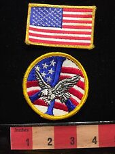 Flag And PEACE SIGN EAGLE Patriotic AMERICA - USA Jacket Patch Emblem 67WH