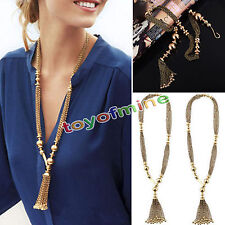 New Fashion Womens Long Tassel Pendant Chain Charms Sweater Necklace Jewelry