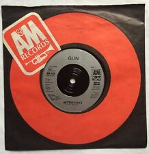 "Gun - Better Days - A & M Records 7"" Company Sleeve Single AM 505 EX/VG"