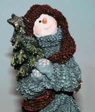 "Boyds Bears resin ""Spruce Bruce"" #36528 snowman Christmas tree winter NIB 2003"