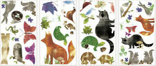 WOODLAND ANIMAL FRIENDS wall sticker 35 decal turtle fox raccoon rabbit squirrel