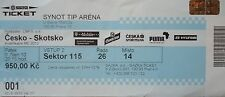 TICKET 8.10.2010 Czech Republic - Scotland Schottland