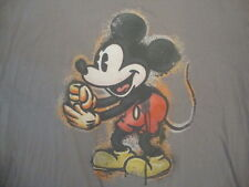 Disney Mickey Mouse Spotted Speckled Cartoon Character Soft Gray T Shirt XL