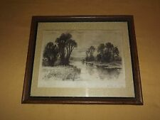 VINTAGE ART  EARLY 1900S JOHN FULLWOOD ETCHING SIGNED