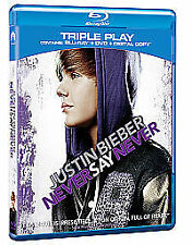 Justin Bieber - Never Say Never 3D (Blu-ray and DVD Combo, 2011)