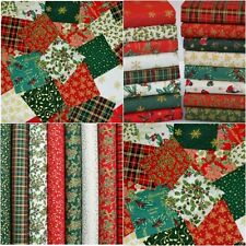 CHRISTMAS FABRIC SCRAPS 20 Pcs BUNDLE 100% COTTON  OFF CUTS REMNANTS TRADITIONAL