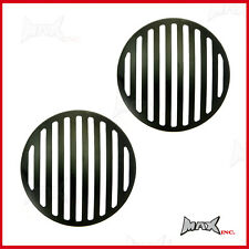 "Black Grill Headlight Covers - Fits Honda Civic with 7"" round driving lights"