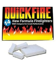Quickfire Firelighters Ignite BBQ Bonfire Camping Incinerator Fire Lighter Burn