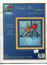 Cross Stitch Chart - Kustom Krafts - Snow Fire Cardinals