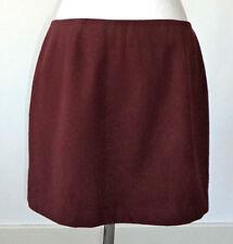 J. Crew Burgundy Short Straight Skirt - 8